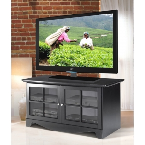 MFI-Nexera 100406 Pinnacle 49 inch TV Console- Black Lacqure Textured Top & Front