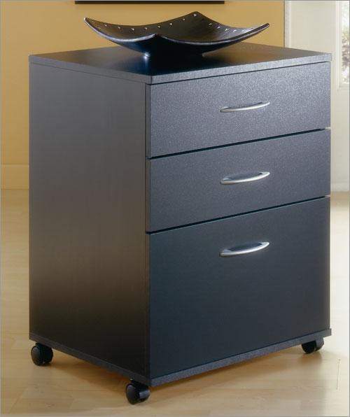 Mfi-Nexera 6092  Mobile File Cabinet- Black
