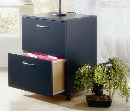 Mfi-Nexera 6093  Mobile File Cabinet- Black