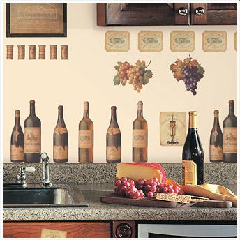 Roommates RMK1257SCS Wine Tasting Peel and Stick Appliques