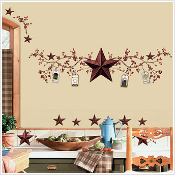 Roommates RMK1276SCS Country Stars Peel & Stick Appliques