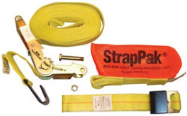 Kinedyne Corporation KL512720PAK 2 x 27' Ratchet Strap with Wide Handle 2004 Webbing and StrapPak