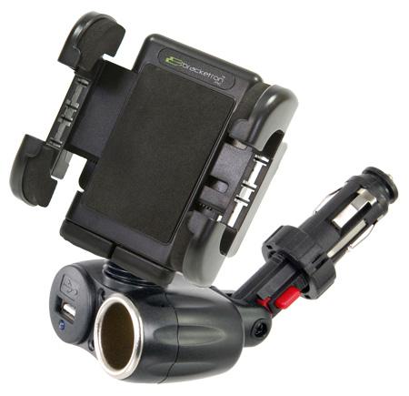 Bracketron IPM197BL 12-Volt Universal USB Power Dock for iPhones / iPods / SAT / GPS / MP3 & More
