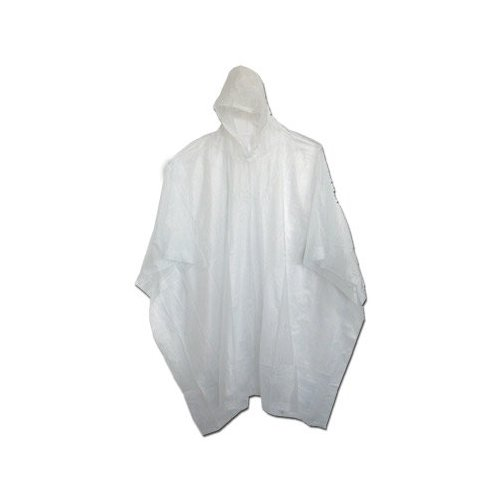 Boss / Cat Gloves 61 52 x 80 Side-Snap 10mm Vinyl Poncho with Hood - Clear