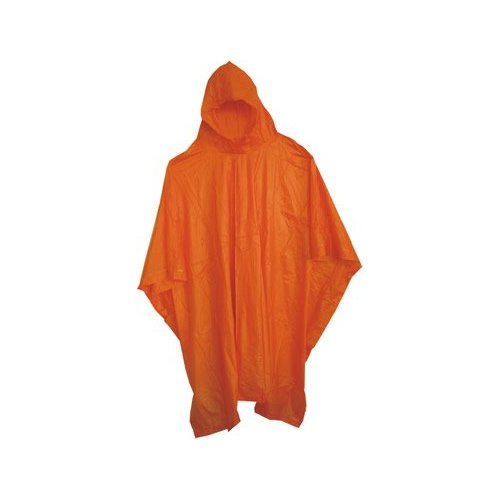 Boss / Cat Gloves 63 52 x 80 Side-Snap 10mm Vinyl Poncho with Hood - Orange