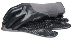 BlackCanyon Outfitters 37150_L Nitrile Coated Glove with Dotted Palm and Knit Wrist - Large 1 Pair