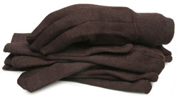 BlackCanyon Outfitters 65090_L3B Brown Jersey Gloves with Knit Wrist - Large 3 Pair