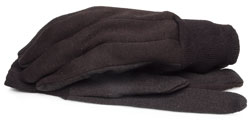 BlackCanyon Outfitters 65590_L Brown Jersey Gloves with Dots and Knit Wrist - Large 1 Pair