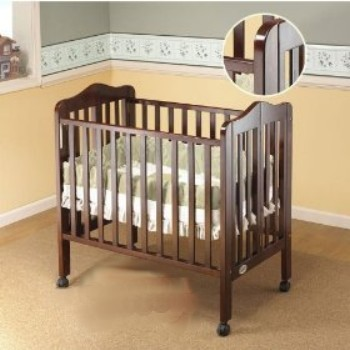 Orbelle Trading 1122C Tina Tina Three Level Portable Crib- Cherry