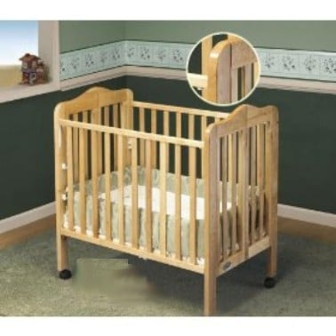 Orbelle Trading 1122N Tian Tina Three Level Portable Crib- Natural