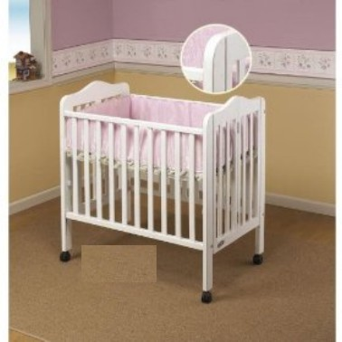 Orbelle Trading 1122W Tina Tina Three Level Portable Crib- White