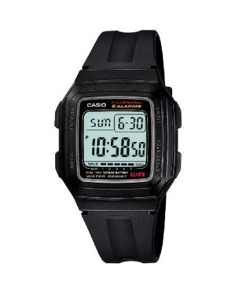 Casio f201wa-1a Mens Classic Digital Black Resin Band Watch
