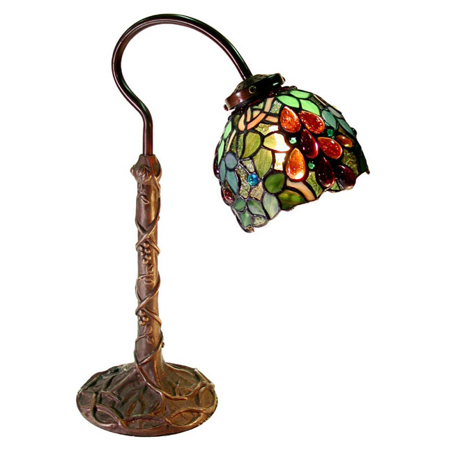 Warehouse Of Tiffany 2312-BB632 Grape Desk Lamp