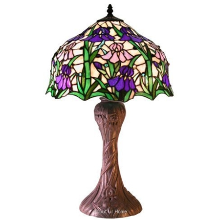 Warehouse Of Tiffany 2380-BB664 Iris Table Lamp