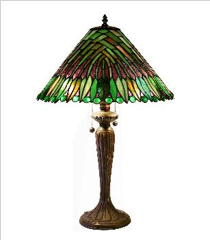 Warehouse Of Tiffany 2508BB699 Tropical Leaves Table Lamp