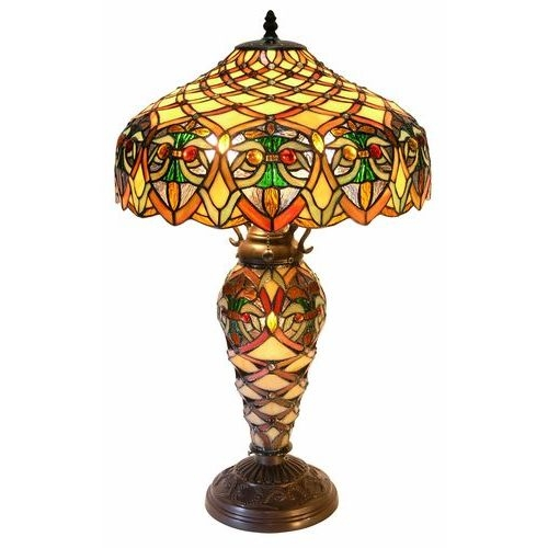 Warehouse Of Tiffany 3046#GLS Arielle Lamp
