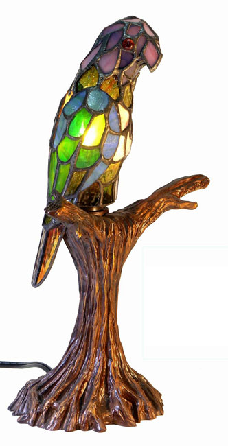 Warehouse Of Tiffany 3268-BB925 Parrot Accent Lamp