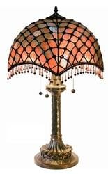 Warehouse Of Tiffany BB565-2194 Amber Beaded Table Lamp