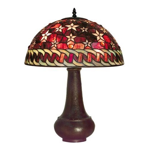Warehouse Of Tiffany BB59-PS231 Red Star Table Lamp