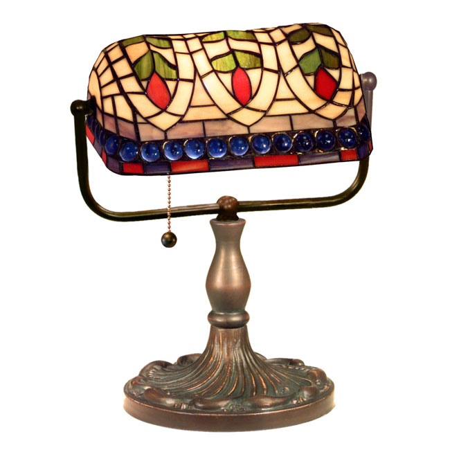 Warehouse Of Tiffany KS20-MB50 Art Glass Desk Lamp
