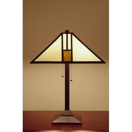 Warehouse Of Tiffany T18M111 White Mission-style Table Lamp