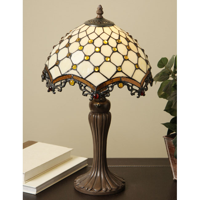 Warehouse Of Tiffany TFW9001-12TL Jewel Roman Table Lamp