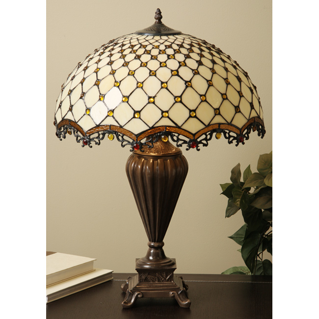 Warehouse Of Tiffany TFW9001-20TL Jewel Roman Table Lamp