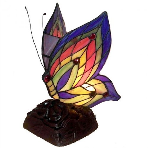 Warehouse Of Tiffany TN09218-D213 Yellow Butterfly Accent Lamp