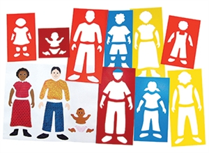 Roylco  Inc. R-52040 Fabulous Family Portrait Stencils