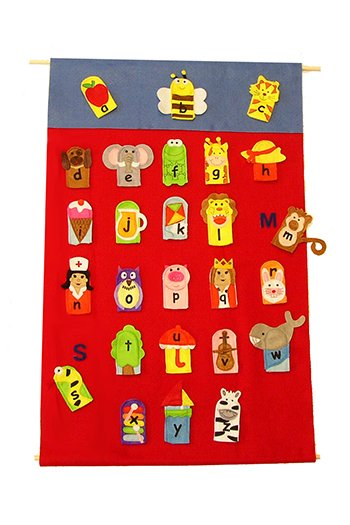 Get Ready Kids MTB737 Alphabet Finger Puppets
