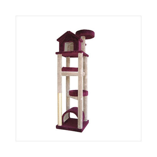 Molly and Friends SKYSCRAPER Burgundy Five Tier Unit Cat Tower