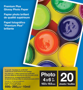 Brother International Corporat BP71GP20 For Ink-Jets-20 Sheets-4X6