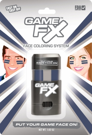GameFace, Inc. 00222 GameFX - SKU8 - Blue 289C - Grey 401 - Blue 289C - Pack of 3