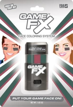 GameFace, Inc. 00237 GameFX - SKU33 - Green 343U - Red 201 - Green 343U - Pack of 3