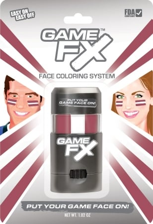 GameFace, Inc. 00238 GameFX  - SKU52 - Maroon 201 - White - Maroon 201 - Pack of 3 MXP035