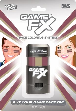 GameFace, Inc. 00239 GameFX - SKU29 - Maroon 202 - Gold 4515 - Maroon 202 - Pack of 3