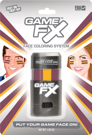 GameFace, Inc. 00240 GameFX - SKU50 - Maroon 216 - Gold 116 - Maroon 216 - Pack of 3 MXP037