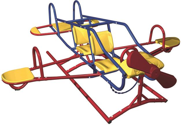 Lifetime 151110 Lifetime Ace Flyer Airplane Dual Action Teeter-Totter