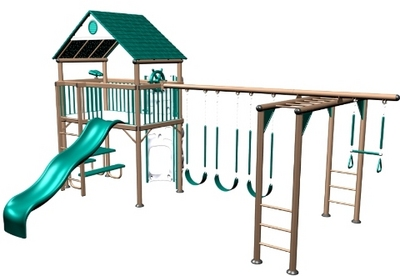 Beau Lifetime 438001 Lifetime Deluxe Commercial Grade Metal Playset   Earthtone    438001 Lifetime Deluxe Commercial Grade
