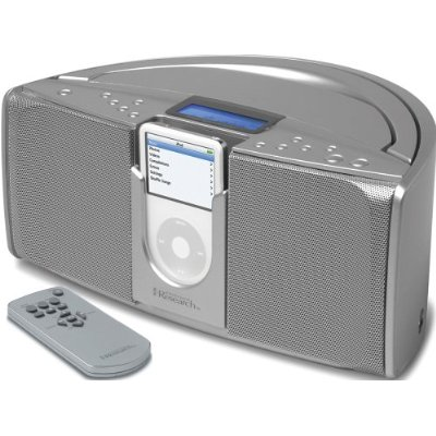 Emerson IP550 Emerson iP550 iTone Portable Stereo System for iPods Silver