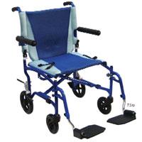 Drive Medical Ts19 Aluminum Transport Chair- Blue