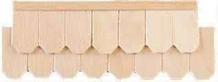 Greenleaf 4702 Octagon Shingles Dollhouse Accessories