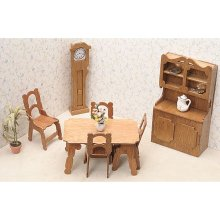 Dining Room Dollhouse Furniture Kit
