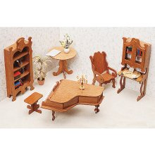 Greenleaf 7206 Library Dollhouse Furniture Kit