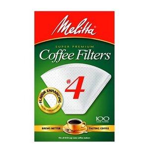 Melitta 624102 Cone Coffee Filters No. 4 - 100 Count