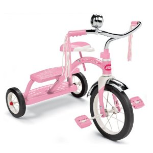 Radio Flyer 33P Girls Classic Pink Dual Deck Tricycle