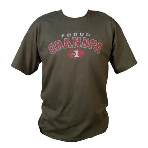 Daddys Tool Bag DTBTPG-L Proud Grandpa T Shirt Olive Size Large