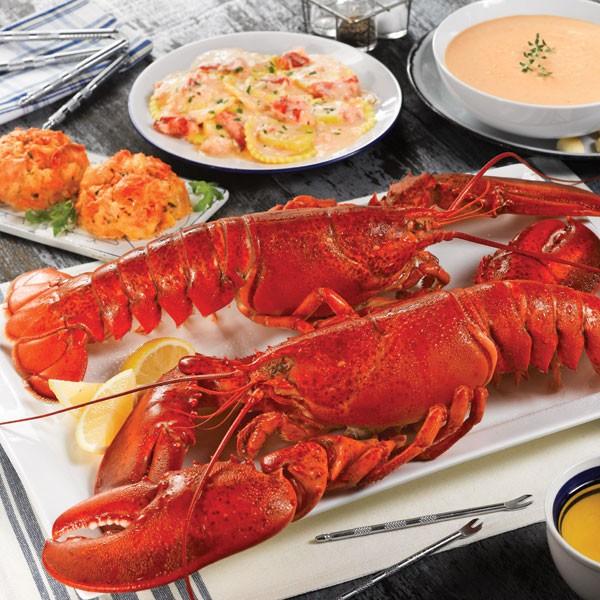 Lobster Gram LICGR4J LOBSTERLICIOUS GRAM DINNER FOR FOUR WITH 2 LB LOBSTERS