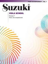 Alfred 00-0494 Suzuki Viola School Piano Acc.- Volume 7 - Music Book