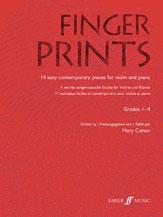 Alfred 12-0571522580 Fingerprints for Violin and Piano- Grade 1-4 - Music Book